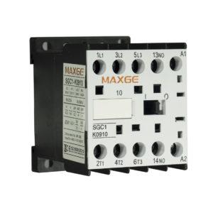 Minicontactor tetrapolar (2NA+2NC) con mando en DC. Hasta 12A