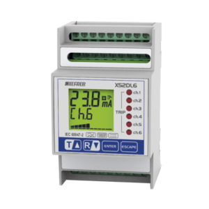 Relés diferenciales multicanal modular con display LCD para control múltiple de cargas