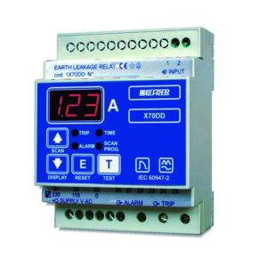 Relés diferenciales con indicación de fuga Display LED