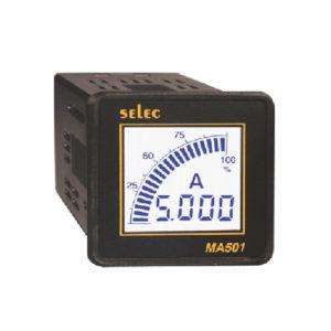 Amperimetros con barra gráfica analógica