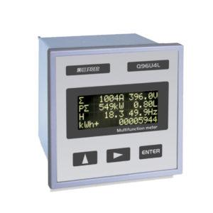 Analizador de alta precisión LCD con medida de THD y comunicación RS485