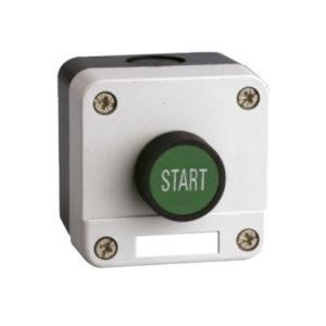 Caja pulsador verde