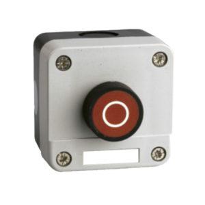 Caja pulsador rojo