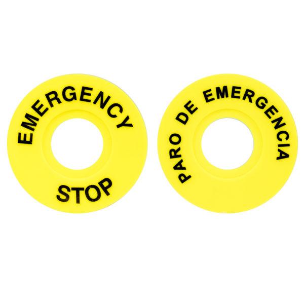 """Etiqueta """"Paro de emergencia"""""""