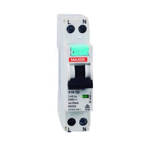 Interruptor magnetotérmico y diferencial estrecho