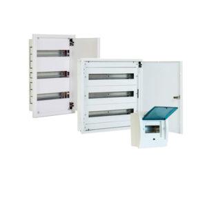 Cofrets modulares para empotrar