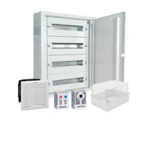 Cofrets y armarios para cuadros de distribución